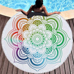 Flower - Round Beach Towel