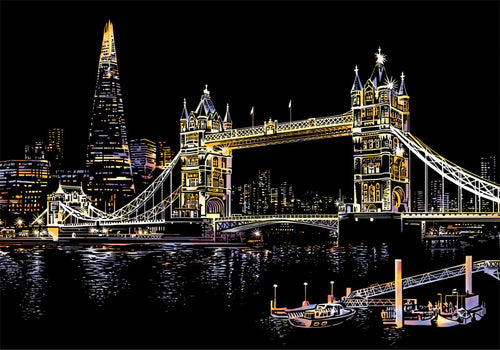 The London Bridge Scratch Art Kit For Adults
