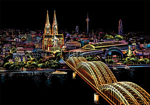 Bridge Skyline Scratch Art Kit For Adults