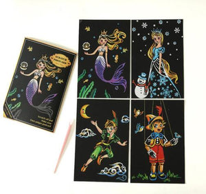 Fairy Tale Fun Postcard Scratch Art Kit