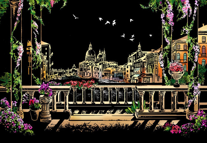 Venice at Night Scratch Art Kit For Adults