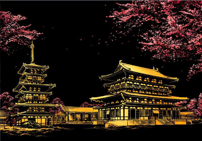 Scenery from Japan Scratch Art Kit For Adults