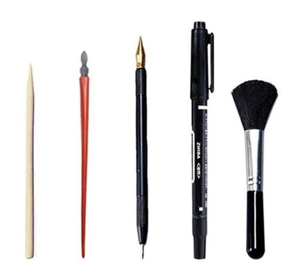 5 Piece Upgraded Scratch Art Tool Kit