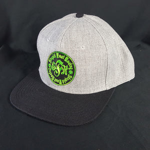 Grey/Black Patch Hat