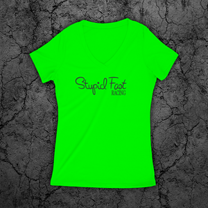 Womens Jr.'s Deep V (Neon Green)