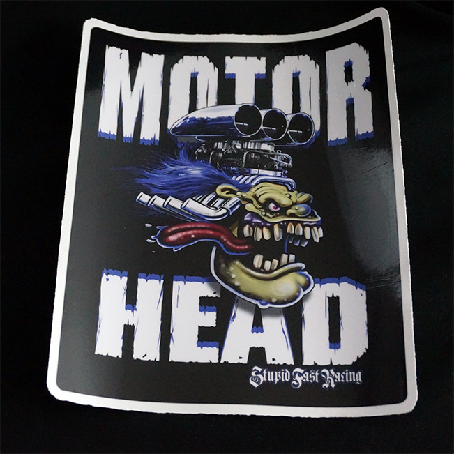 Sticker Motor Head