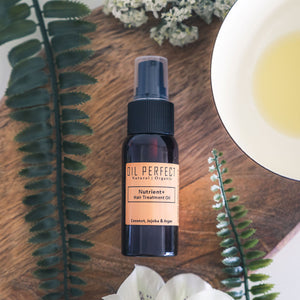 A deliciously scented multipurpose treatment oil that helps eliminate frizz, lock in moisture, & bring shine to hair. By Oil Perfect.