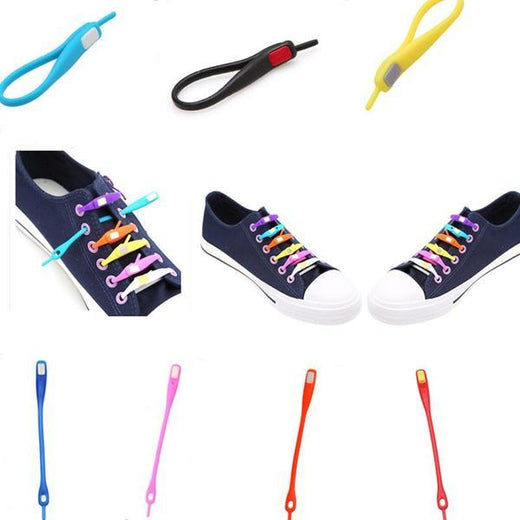 10PC Pack Elastic Shoelaces - E-Xclusif