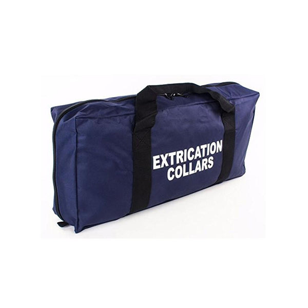 EMS Medical Cervical Extrication Collars Bag with Zippered Pockets - Navy Blue