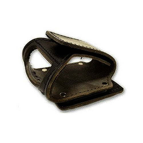 Black Leather Clip-On Swivel Axe Cradle