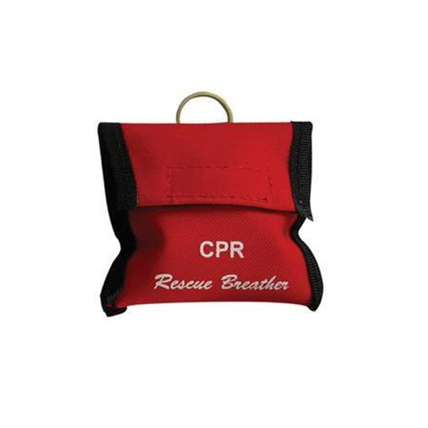 LINE2design Emergency Rescue CPR Face Shield Keychain Kit with Pouch- Red