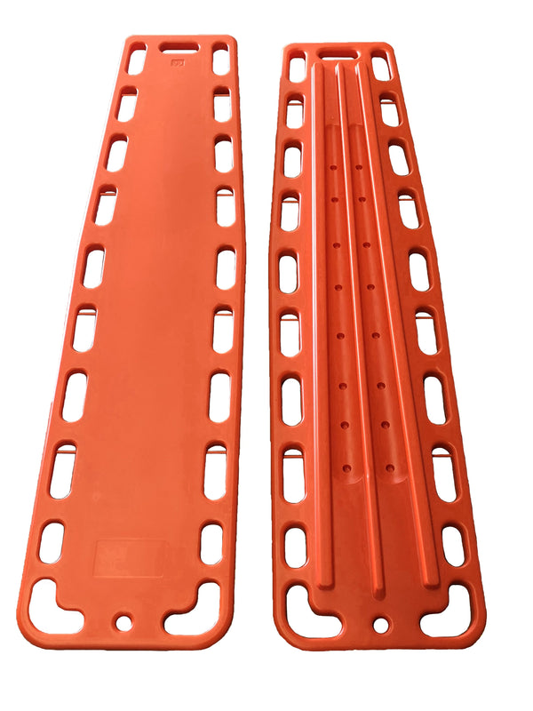 LINE2design Medical Spinal Immobilization Lightweight Emergency Backboard with Speed Clips - Orange