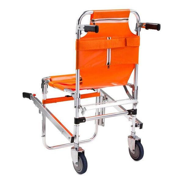 LINE2design Emergency Evacuation 2 Wheel Stair Chair Lift EMS Quick Release Buckle with Patient Restraint Straps & Front-Back Handles