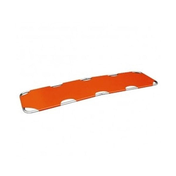 Flat Folding Stretcher, Aluminum, Orange