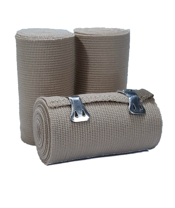 "LINE2design Soft Wrap Elastic Bandages Support Stretched Latex Free 3""x5 Yards Packed with 2 Attachment Clips"