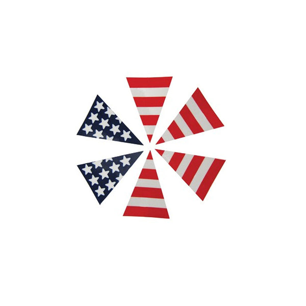 6 Part USA Flag Triangle 2-Layers, Highly Reflective