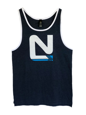 Mens Black Singlet -  N Middle