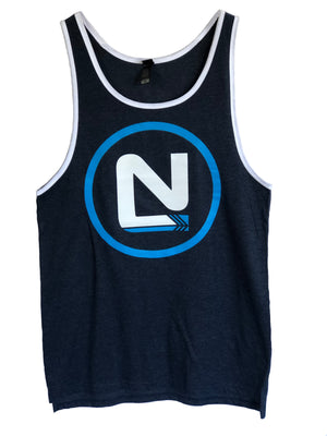 Mens Singlet - Large N Symbol with Circle Middle