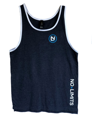 Mens Singlet, No Limits and N Circle Left, Large N on Back