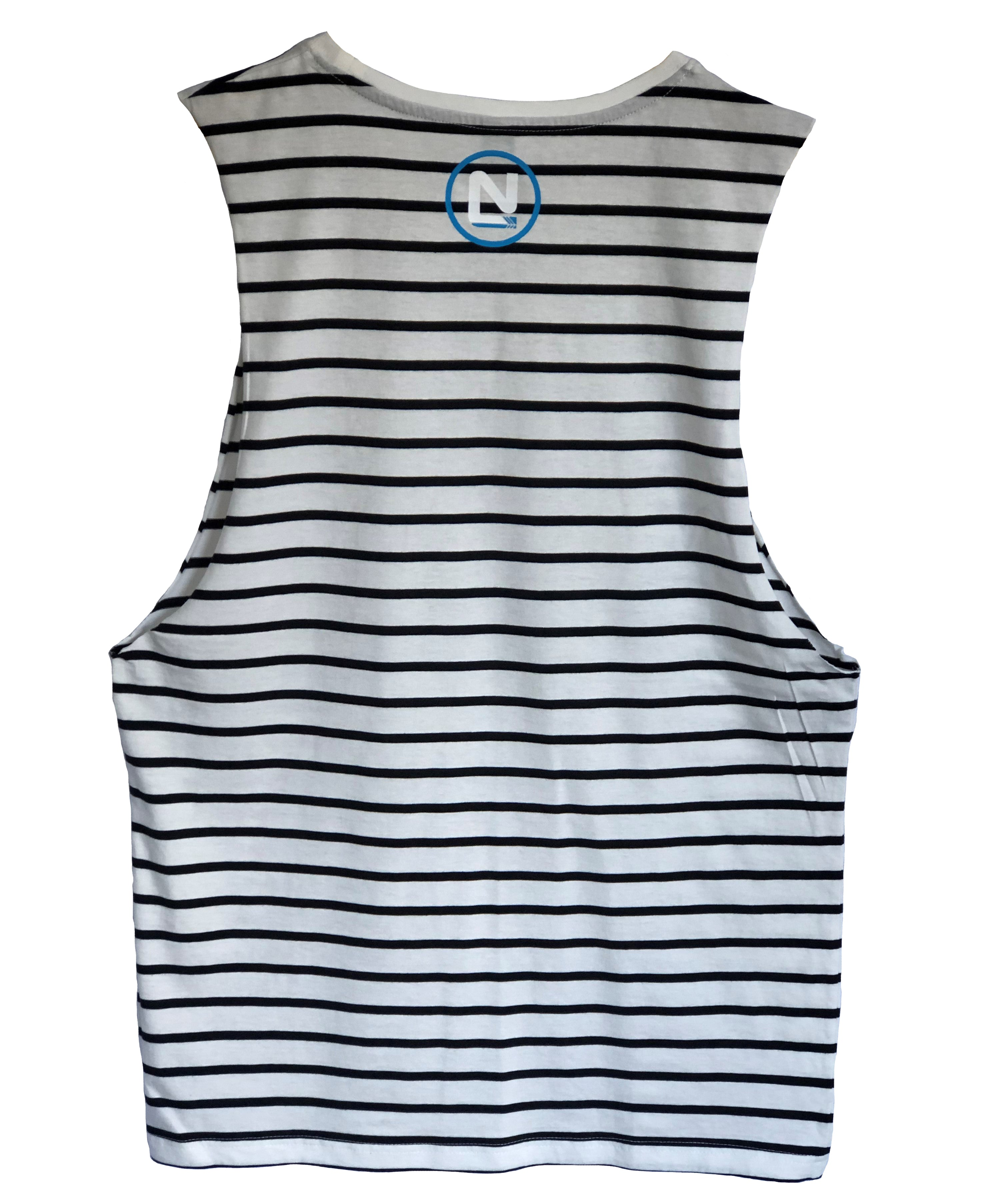 Womans Striped Singlet - Large & Small N with Circle