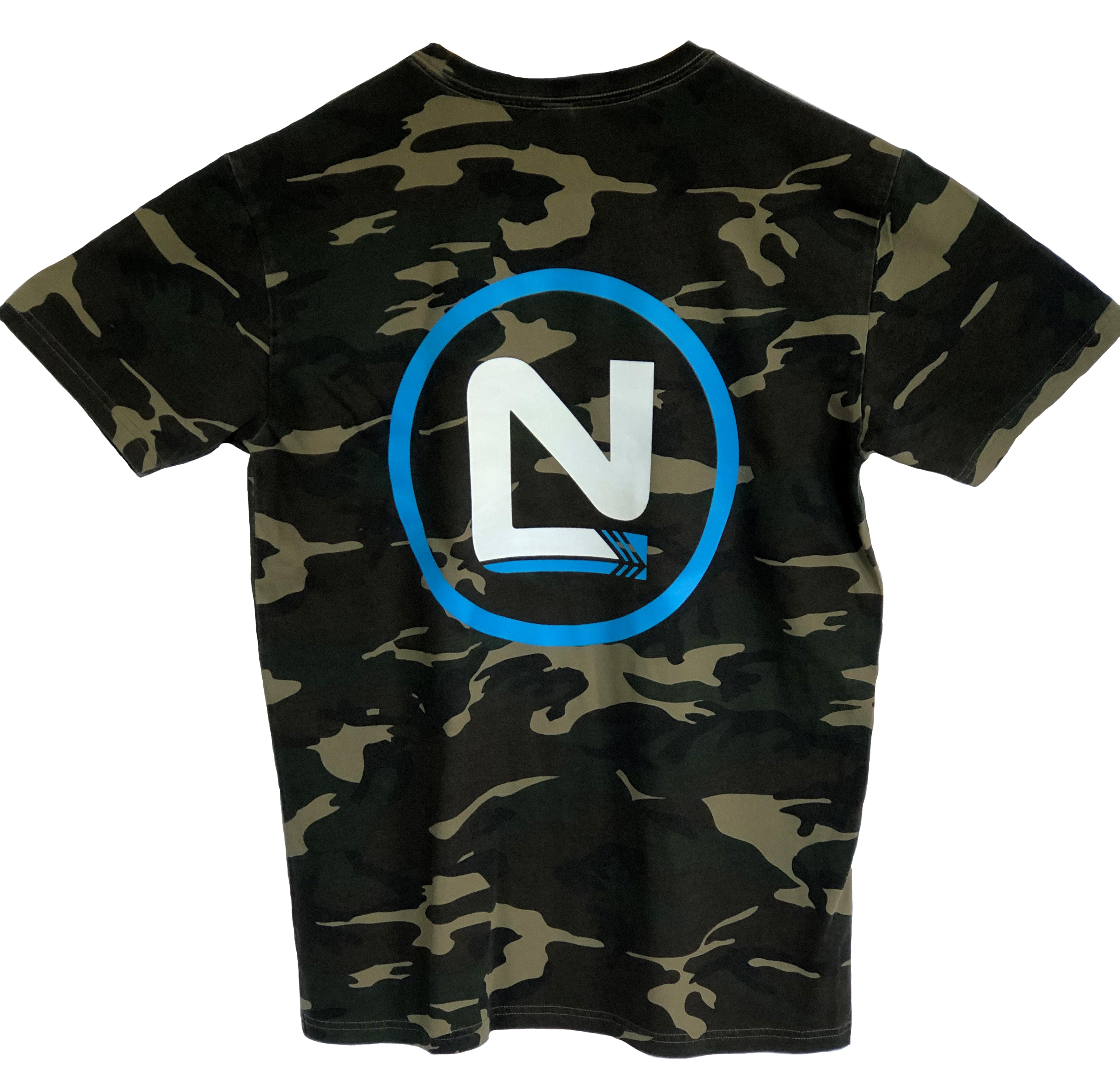 Mens Camo T-Shirt - N Left, N Circle Back