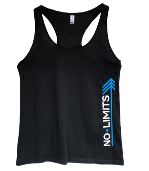 Womans Singlet Black - No Limits Left, Small N Circle Back