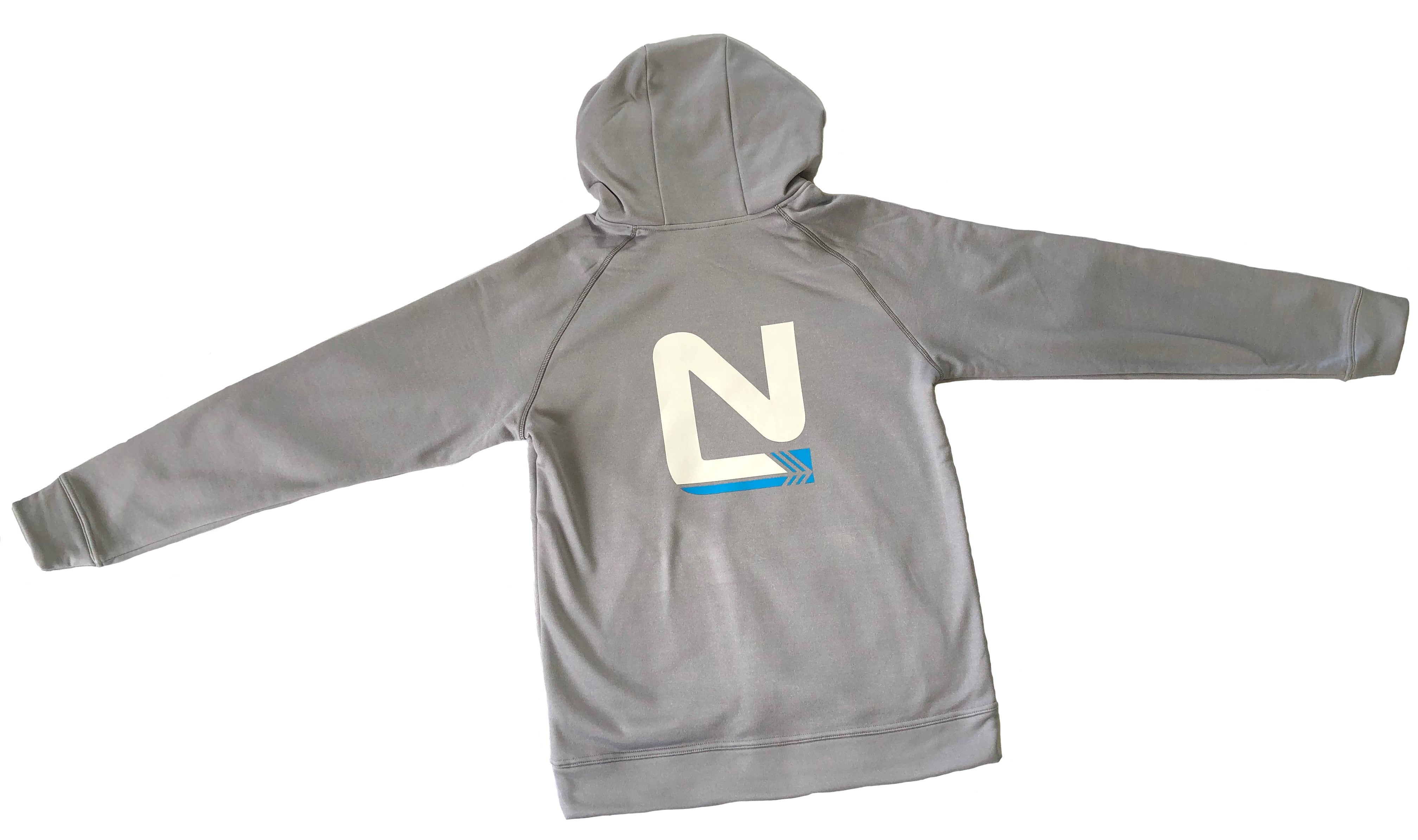 Grey Hoodie - No Limits, Small N Left, Large N Back
