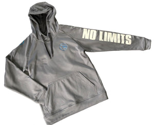 Grey Hoodie - No Limits, Small Arrow Left, Large N Back
