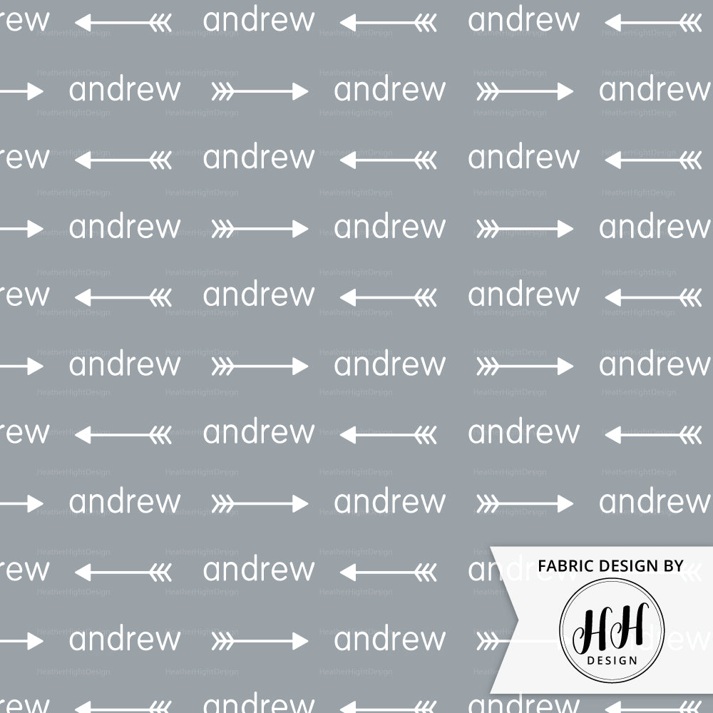 Arrow Personalized Fabric