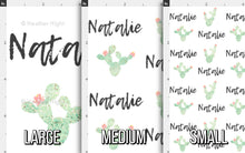 Load image into Gallery viewer, Watercolor Cactus Personalized Fabric