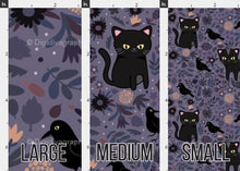 Load image into Gallery viewer, Black Cats and Ravens Fabric