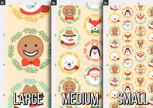 Load image into Gallery viewer, Cute Christmas Characters Fabric