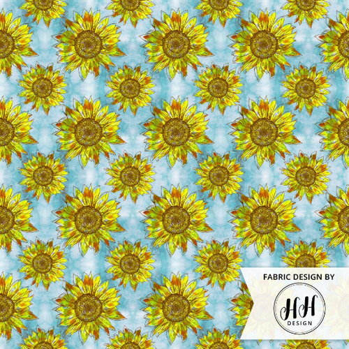 Boho Sunflower Fabric