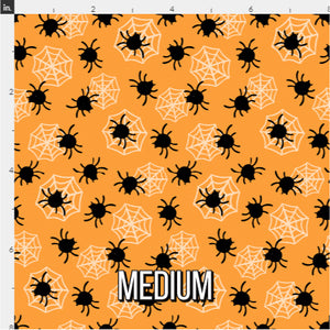 Halloween Spider Fabric - Orange