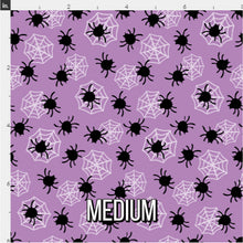 Load image into Gallery viewer, Halloween Spider Fabric - Purple
