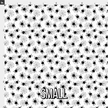 Load image into Gallery viewer, Halloween Spider Fabric - Black & White