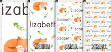 Load image into Gallery viewer, Watercolor Fox Personalized Fabric