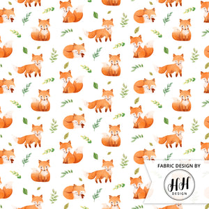Watercolor Fox Fabric