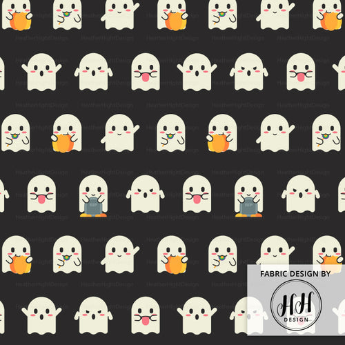 Ghost Emoji Fabric