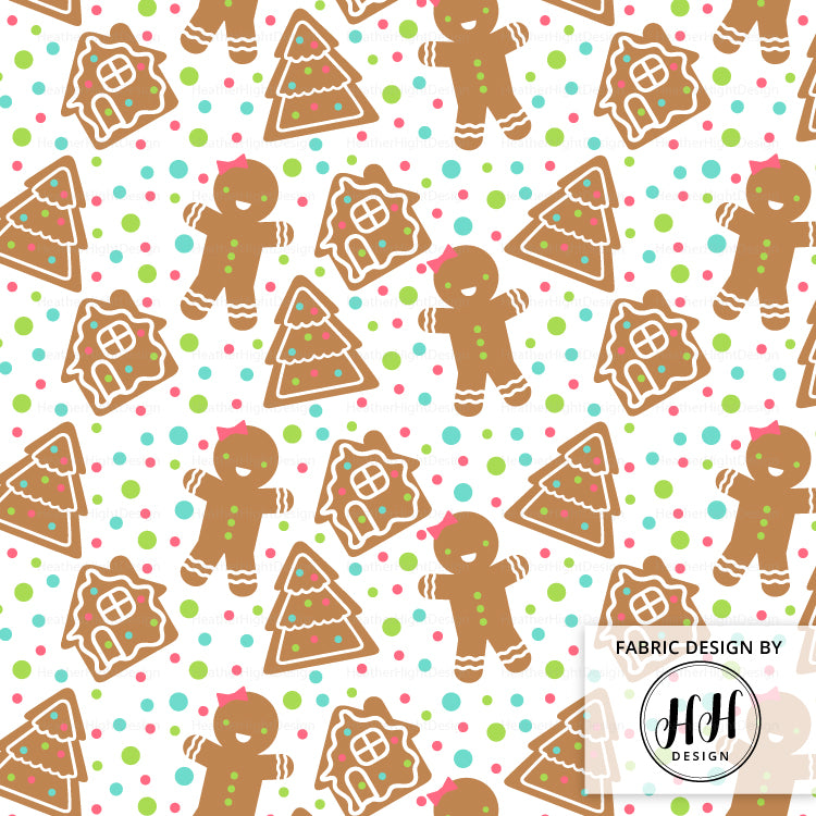 Gingerbread Girl Fabric
