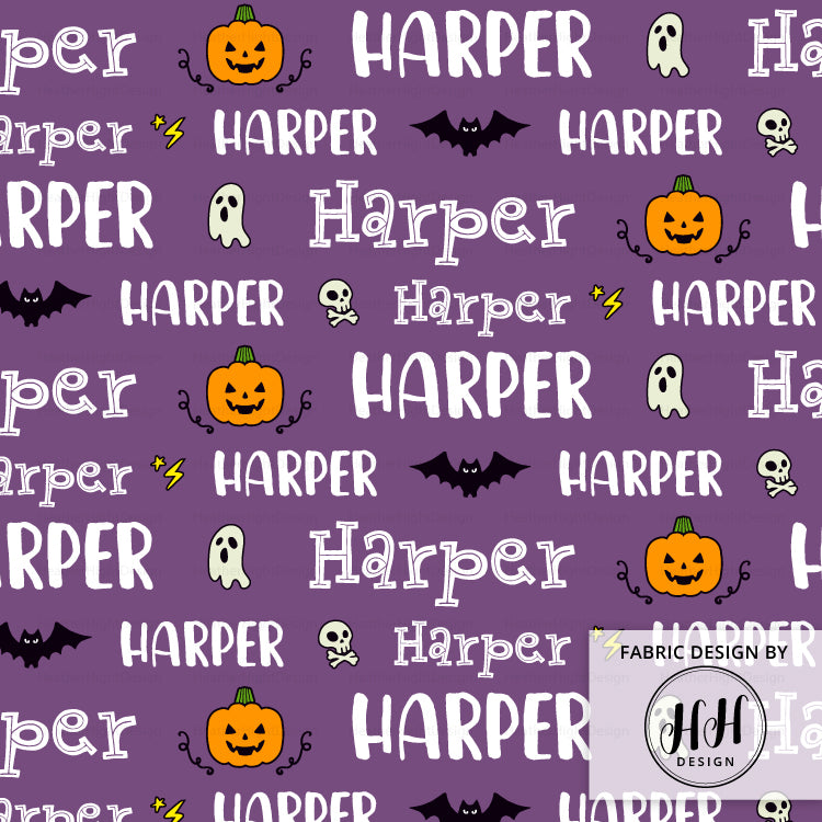Halloween Personalized Fabric