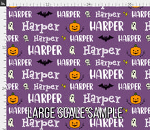 Load image into Gallery viewer, Halloween Personalized Fabric
