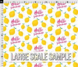 Hello Summer Lemon Fabric