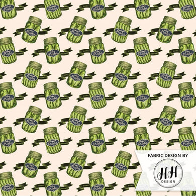 Vintage Pickle Jar Fabric