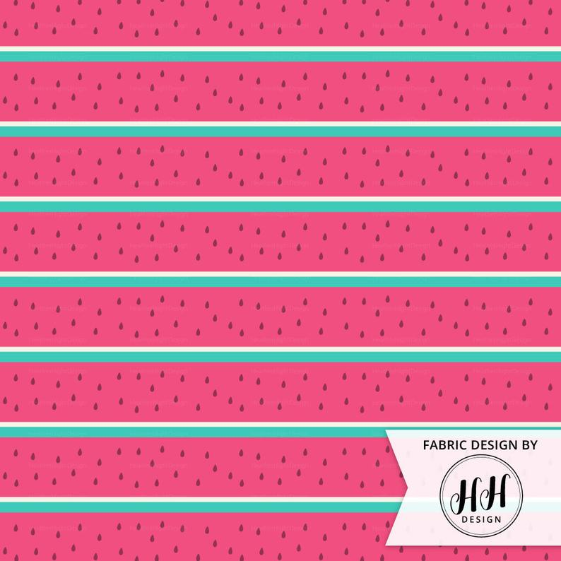 Watermelon Stripes Fabric