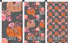 Load image into Gallery viewer, Watercolor Pumpkin Fabric - Gray