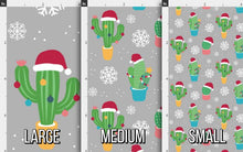 Load image into Gallery viewer, Christmas Cactus Fabric - Gray