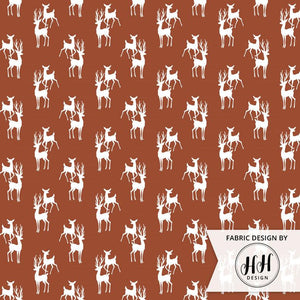 Buck and Doe Fabric - Rust