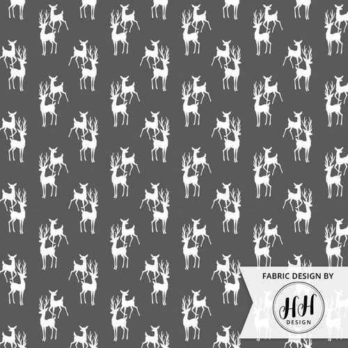 Buck and Doe Fabric - Iron Gray