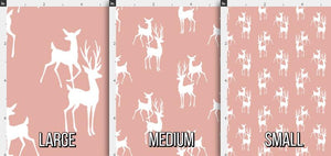 Buck and Doe Fabric - Blush Peach Pink